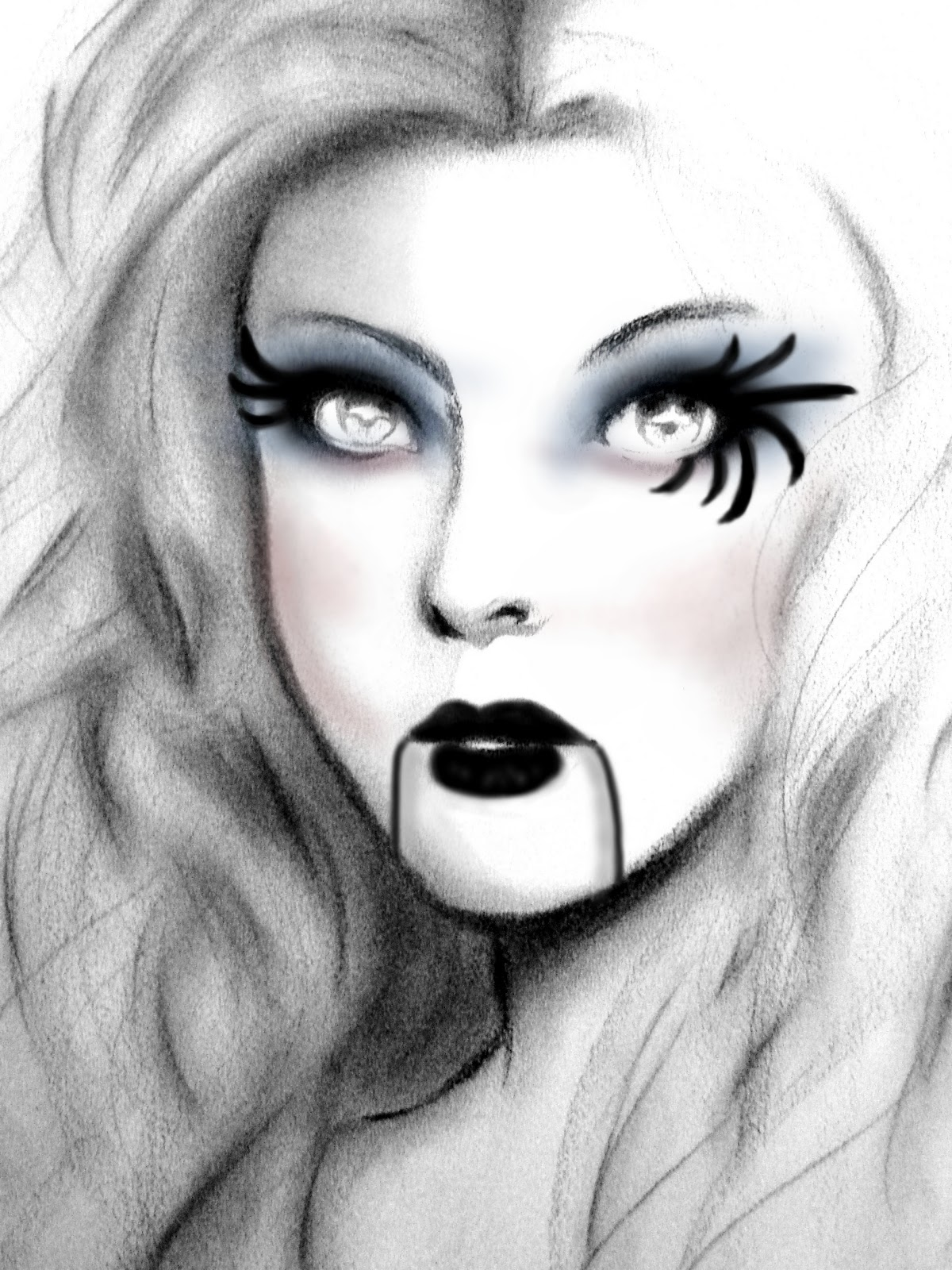 To Make The Doll Look More Gothic Halloween Makeup