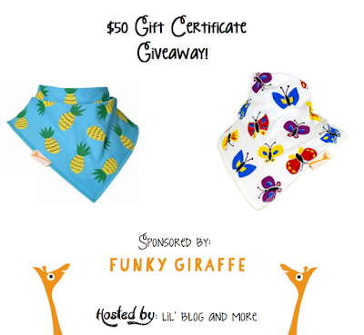 $50 Gift Certificate Giveaway for Funky Giraffe