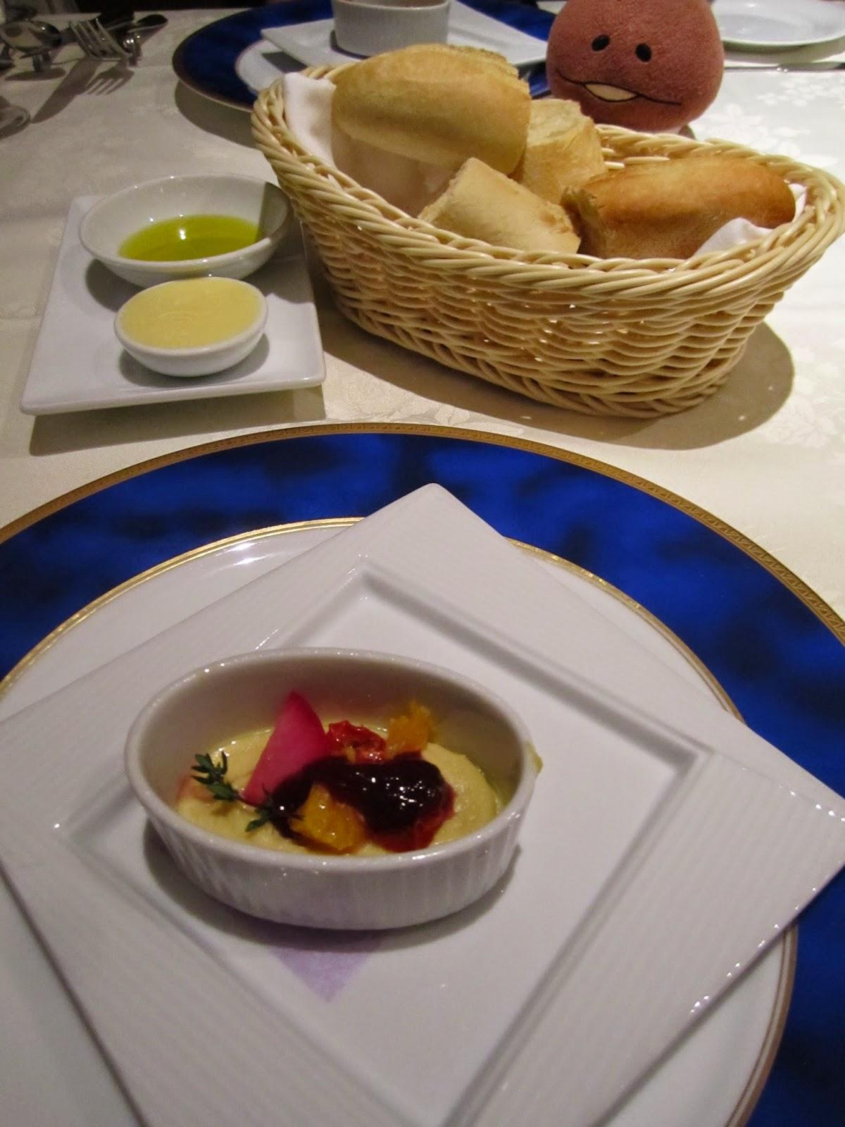 Hotel Neuschloss Otaru Blau Kuste foie gras and semi-dried tomato mousse