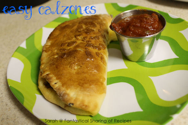 Easy Calzones - an absolutely incredible recipe that is customizable to each person's taste.