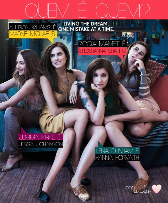 conheça as personagens de GIRLS, a nova serie do HBO
