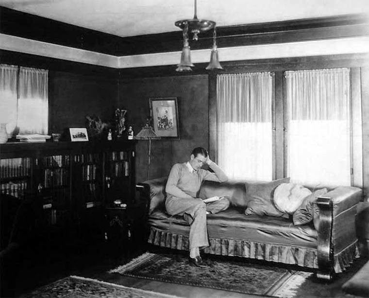 Gary Cooper at home 1929.