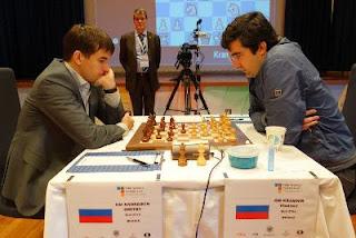 Echecs à Tromsø : Kramnik 1/2 Andreikin lors de la 3e partie © Paul Truong