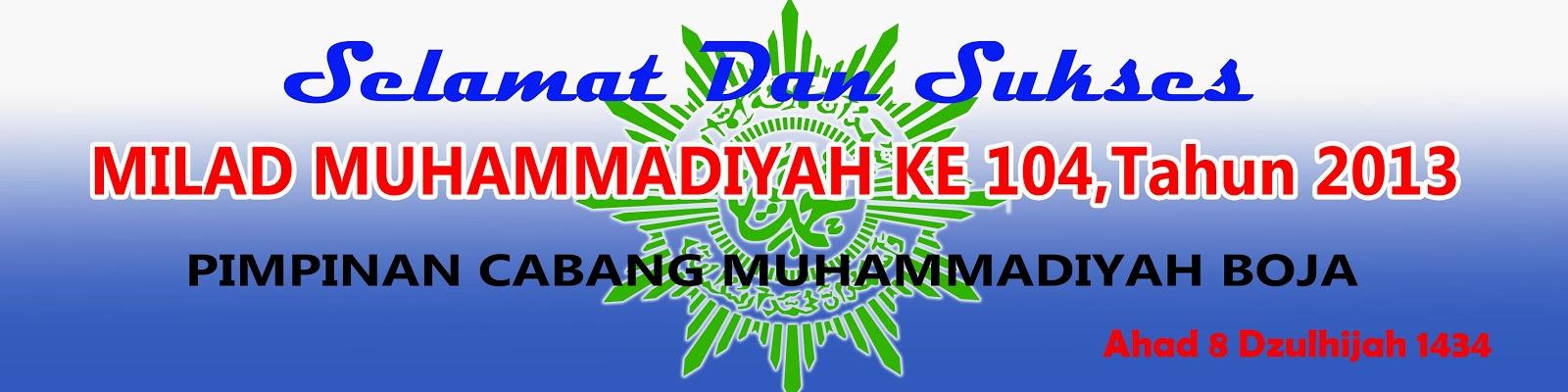 KEGIATAN MILAD MUHAMMADIYAH KE 104