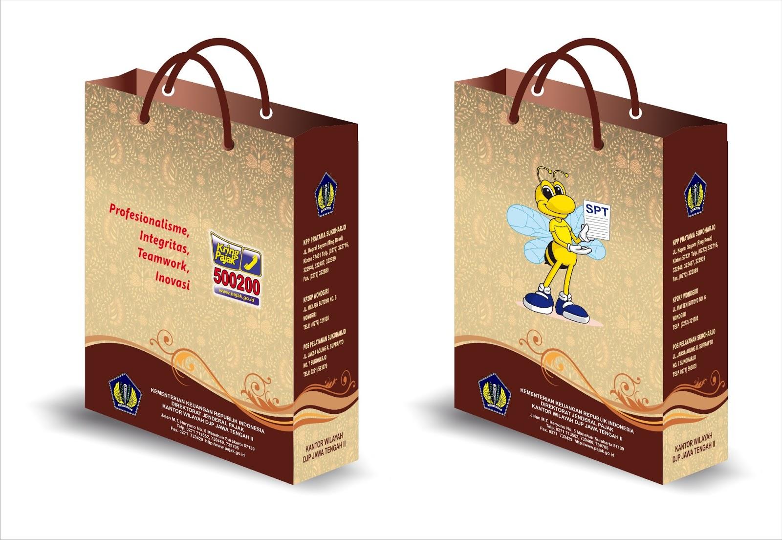 Desain Paper Bag Pajak - Cetak Brosur Jogja