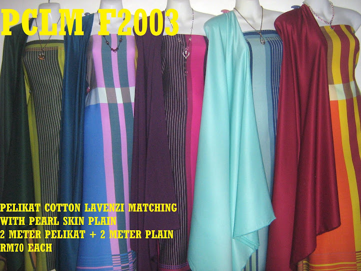 PCLM F2003: PELIKAT COTTON LAVENZI MATHING WITH PEARL SKIN PLAIN