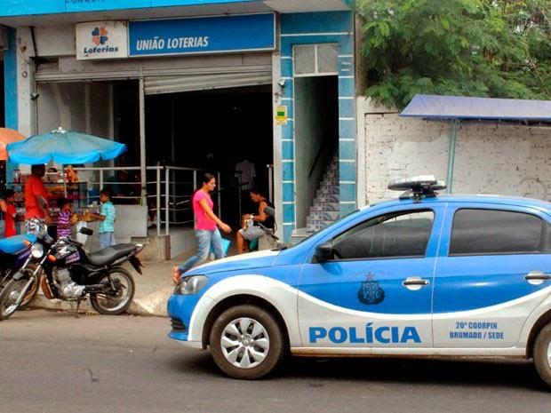 Lotérica na cidade de Brumado é assaltada na madrugada desta segunda-feira (8) (Foto: Wilker Porto/Site Brumado Agora)