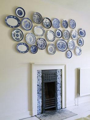 Beachnut lane dinner plates as wall art for Wall decor dishes