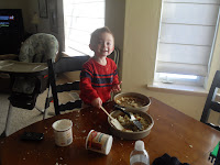 Caden Helping Bake