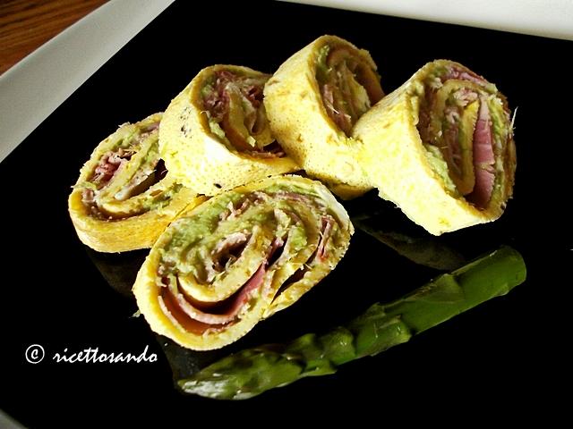 Girelline primavera asparagi e prosciutto ottime come antipasto, snack,  spezzafame