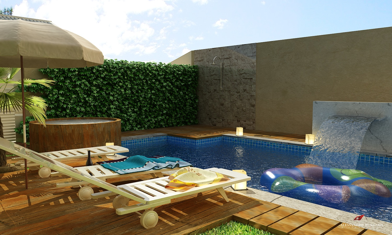 Arquitetura e interiores rea de lazer piscina e - Piscinas interiores pequenas ...