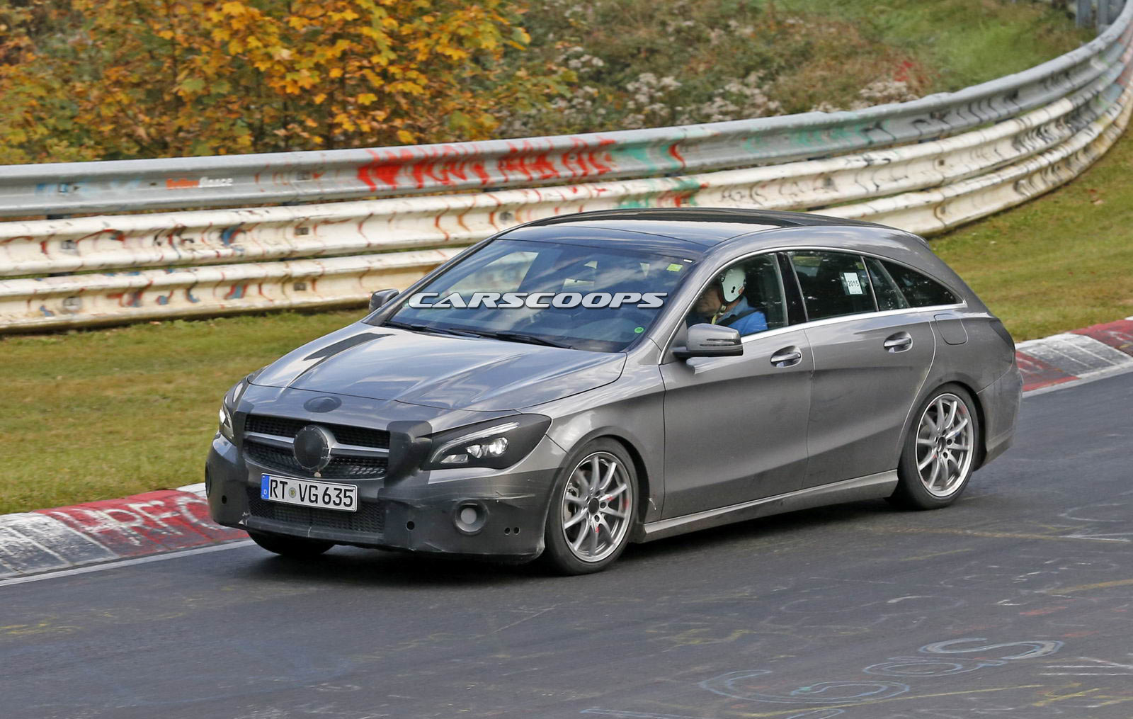 Mercedes 39 revised cla shooting brake testing at the for Sb mercedes benz