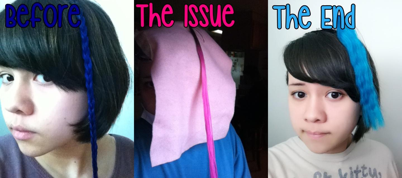 Gravuunlok Adventures Dying Blue Over Pink Hair Tldr At End