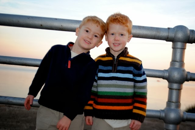 My sweet, handsome four year olds!