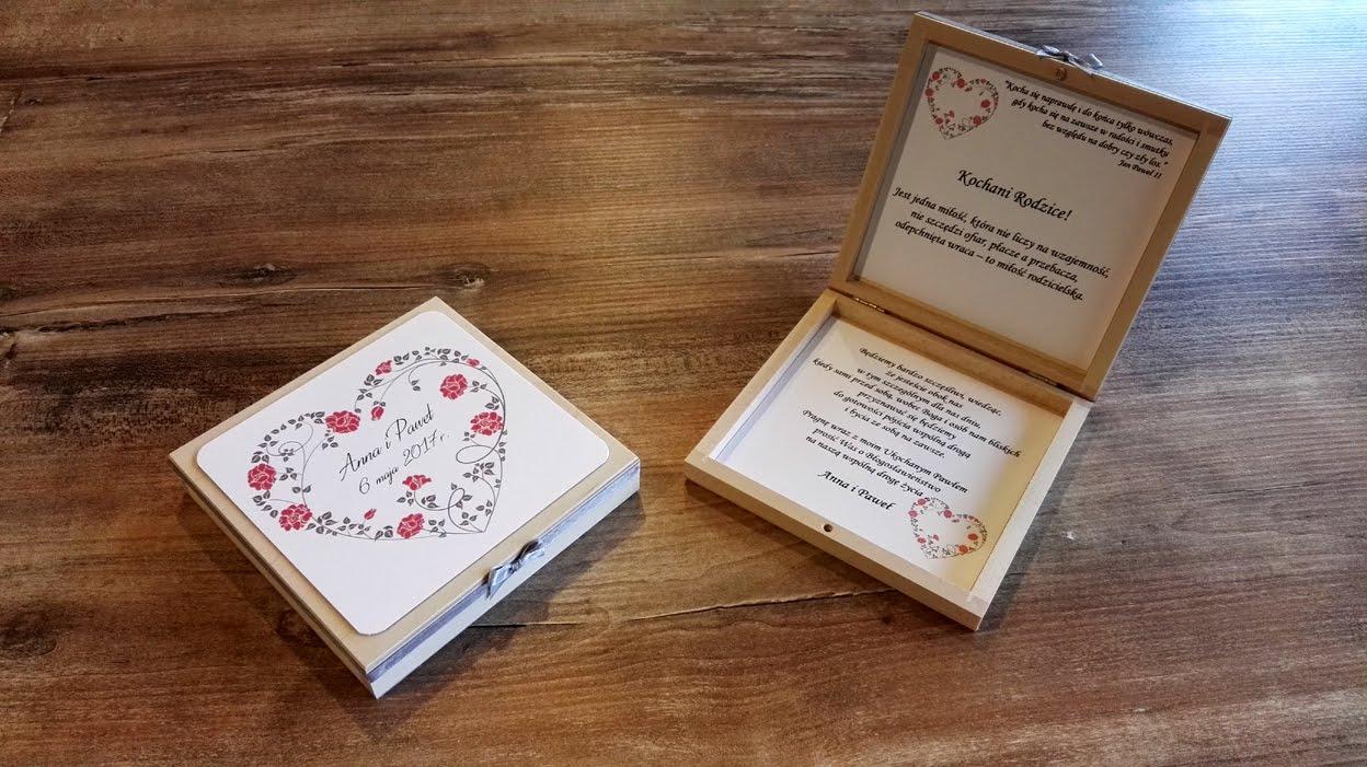 Papierowe Marzenia Zaproszenia ślubne Szkatułki Z Prośbą O