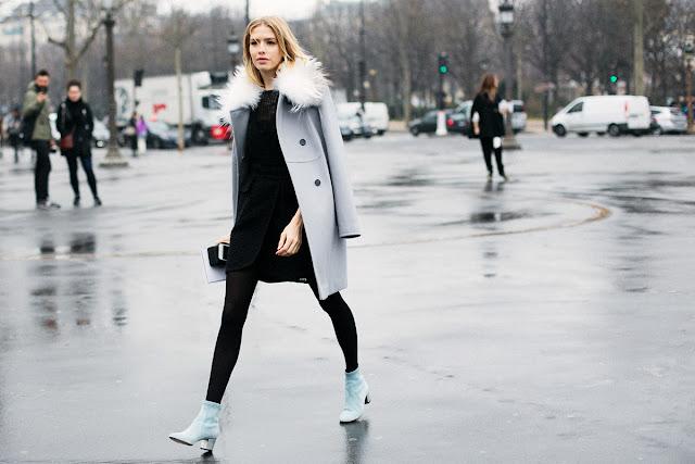 Para ir a lo oficina ¿qué me pongo? vestido negro abrigo y zapatos color