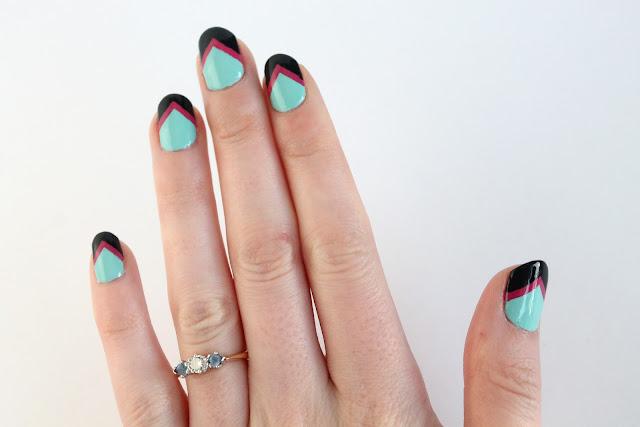 1980's nail design