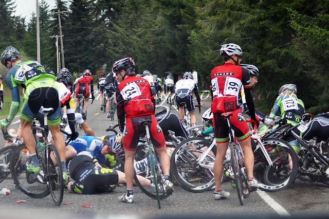 Cycling lens chute chute olympic view road race