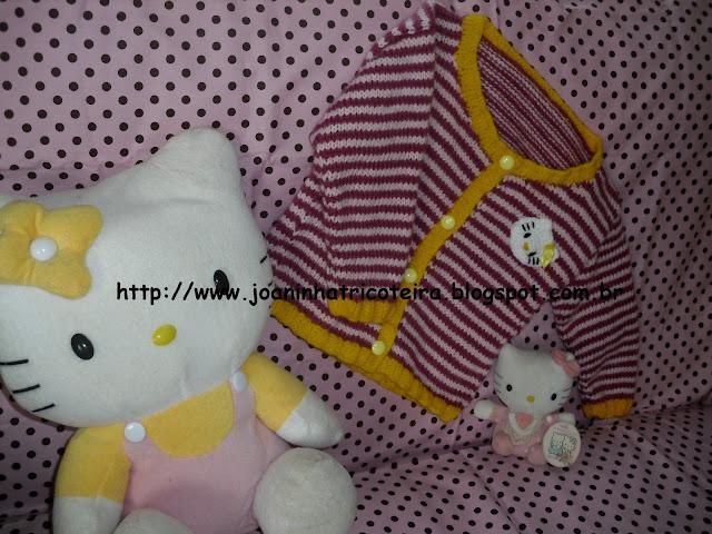 Casaco Hello Kitty Tricô