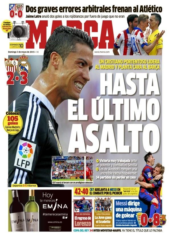 Real madrid tv sevilla 2 3 real madrid portadas de marca for Madrid sevilla marca