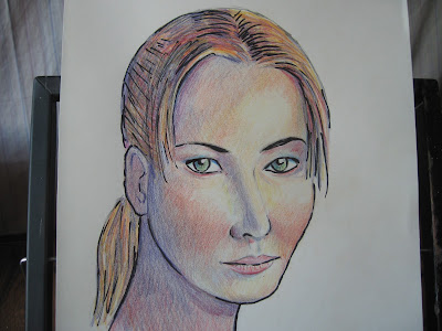 Dibujo de Jennifer Lawrence