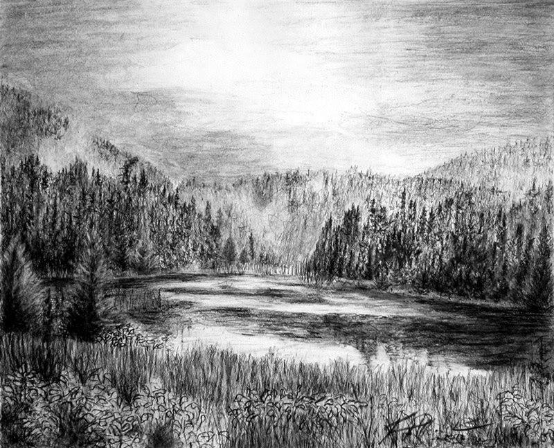landscape charcoal sketches - photo #19