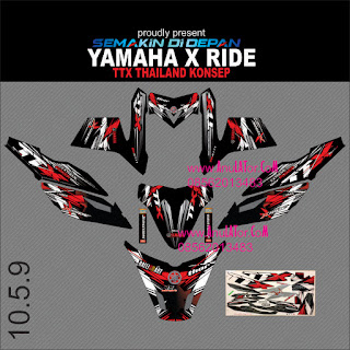 Sticker striping motor stiker Yamaha X Ride TTX  3