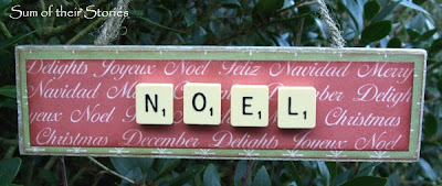 Scrabble tiles Christmas Ornaments