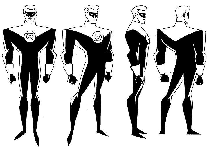 cartoon concept design  superman model sheets