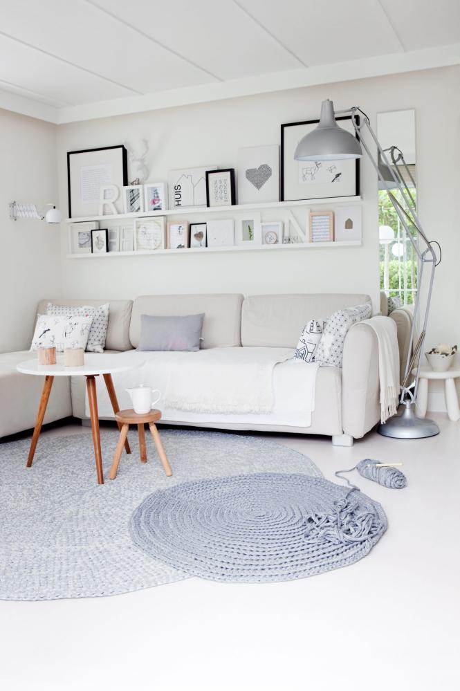 Apartamento de 45m de estilo escandinavo deco living for Alfombras estilo escandinavo