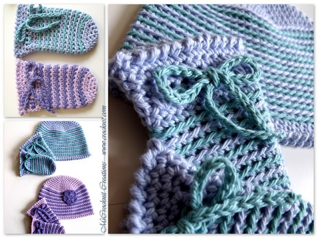 crochet patterns, how to crochet, baby hats, baby mittens, newborn,