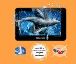 tablet pc 3D harga 2 jutaan, harga tablet Wearnes LitePAD LP-811, tablet pc tiga dimensi tanpa kaca mata 3d