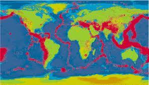 Mapa en tiempo  real de terremotos en la tierra