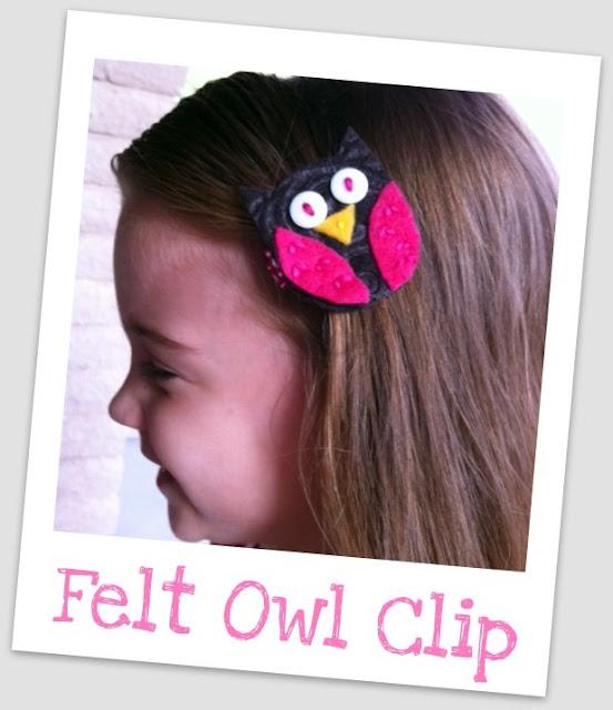 gift presents for kids: felt owl clips {tutorial}