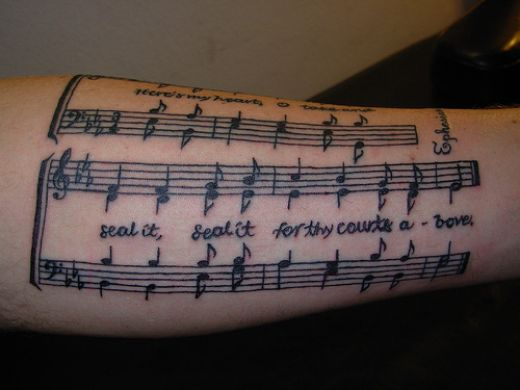musical tattoo designs. musical tattoo designs. music