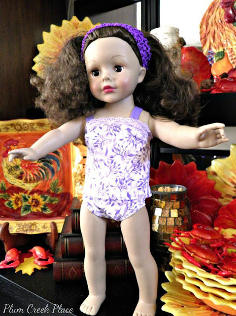 Little Jo's Doll Party - Little Jo's new cami and undies