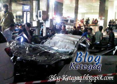 Wanita mati selepas kereta yang dipandunya jatuh dari sebuah bangunan