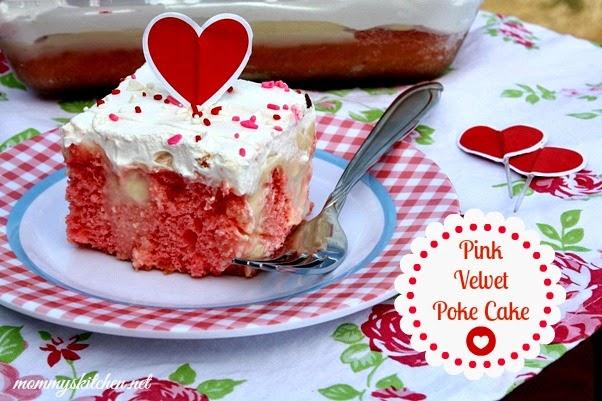 pink velvet poke cake {valentines day treat}