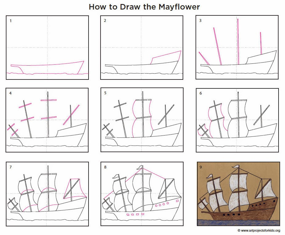 How To Draw Mayflower20ship