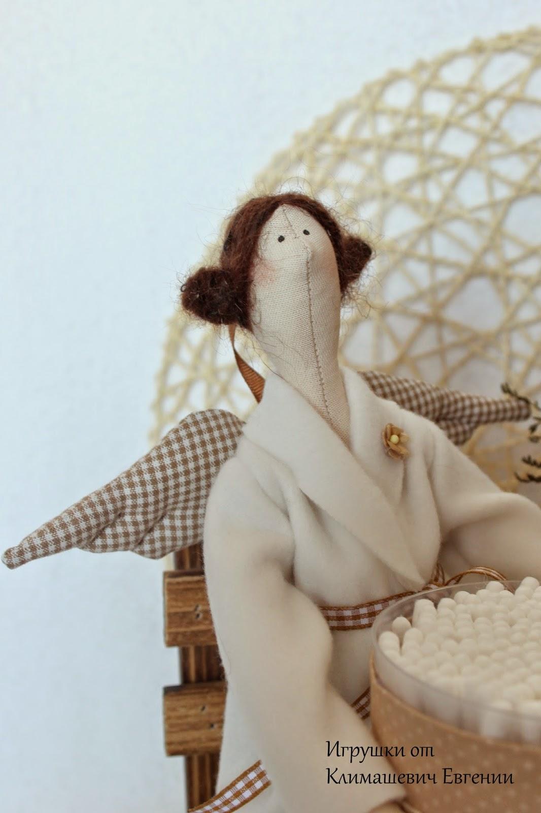 Хранительница ватных палочек, банная фея, тильда, тильда фея, тильда ангел, купить тильду, кукла тильда
