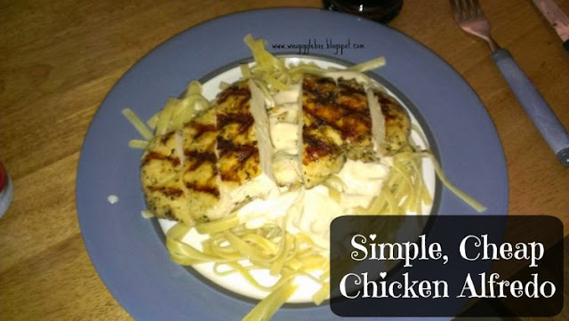 chicken recipes, how to make chicken alfredo the cheap and easy way, chicken alfredo,