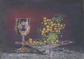 pastel paintings, flower paintings, classical art