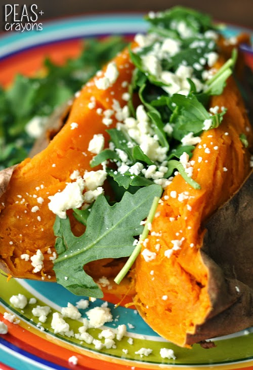 arugula feta sweet potatoes