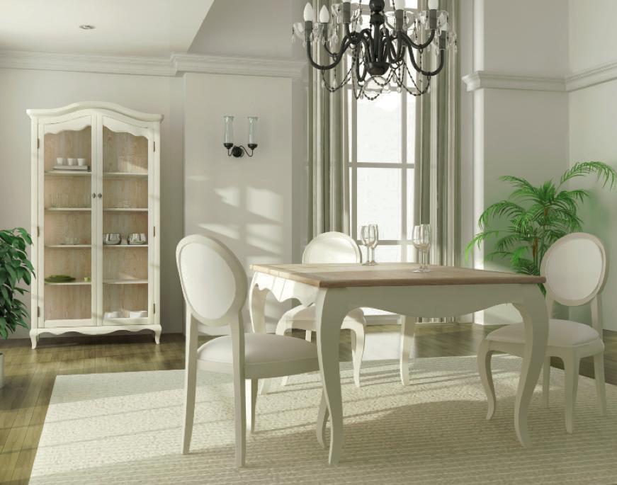 Decoraci n tendencias en estilo cl sico sillas con el for Sillas para comedor redondo
