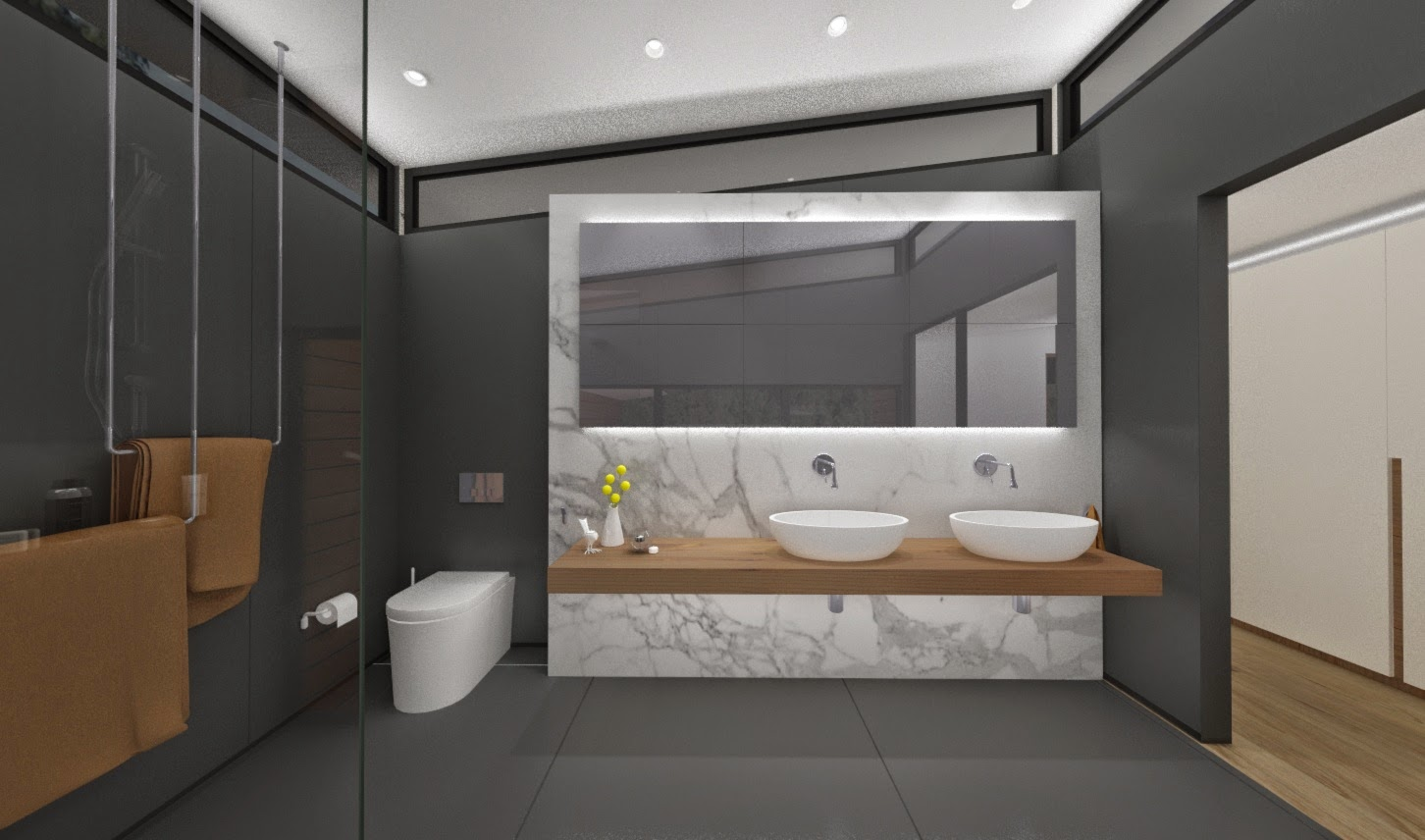 Minosa bathroom with a view bathing with nature for Bathroom designs open showers