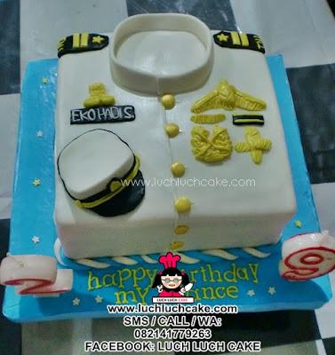 Kue Tart Baju Angkatan Laut Daerah Surabaya - Sidoarjo