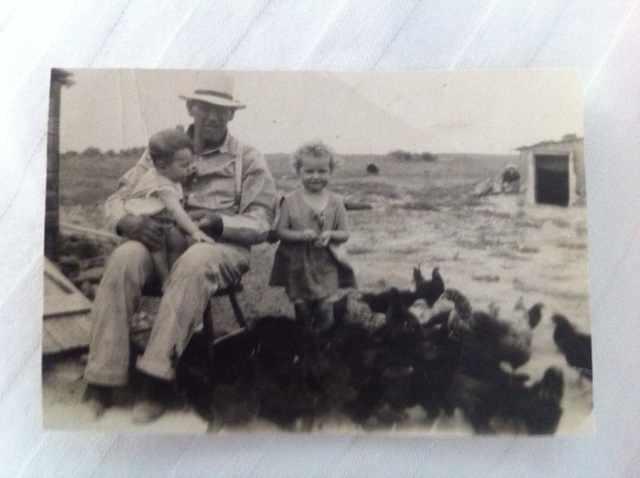 Grandma Betty, Age 3, Rhode Island Reds