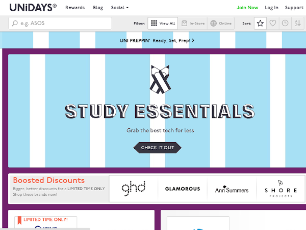 Treat yourself to some student discounts with UNiDAYS!