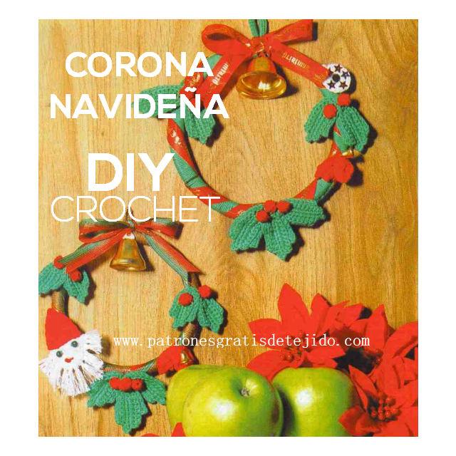 Corona Navideña Crochet / Tejiendo para Navidad DIY | Crochet y Dos ...