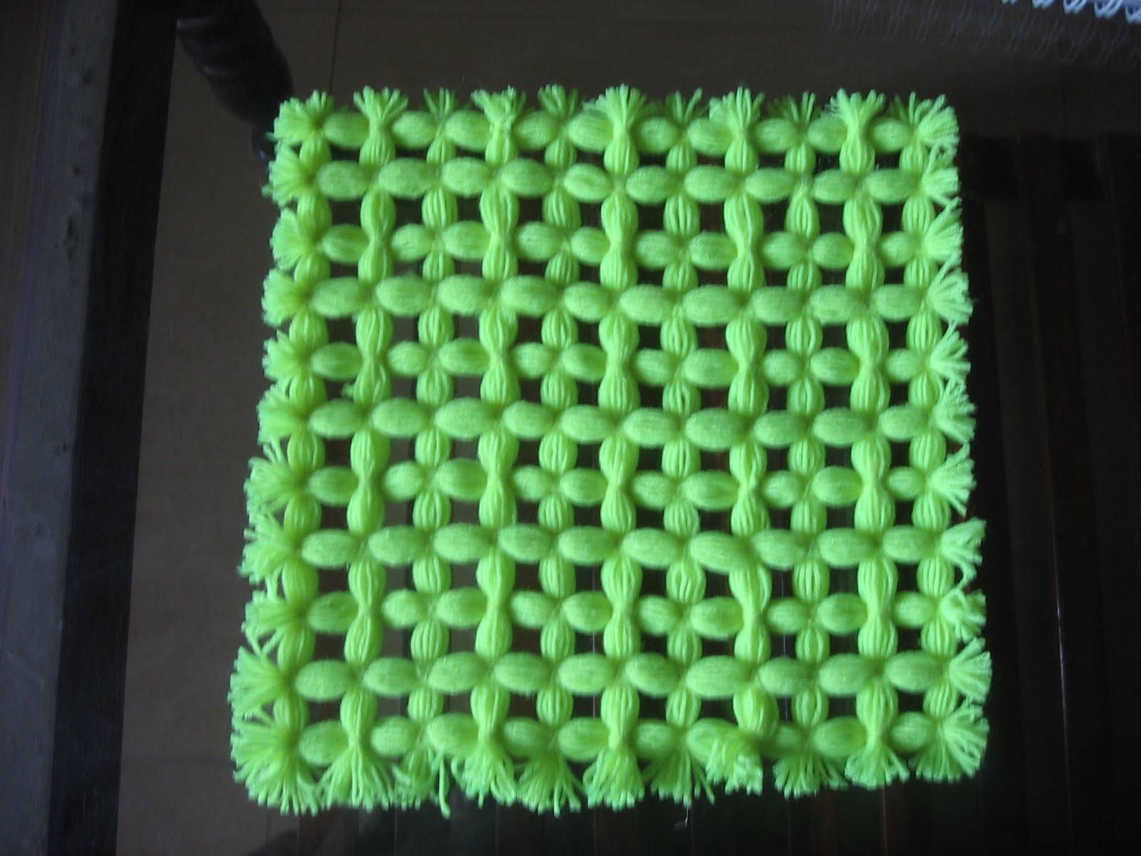 My craft works woollen mat for Craft with woolen thread